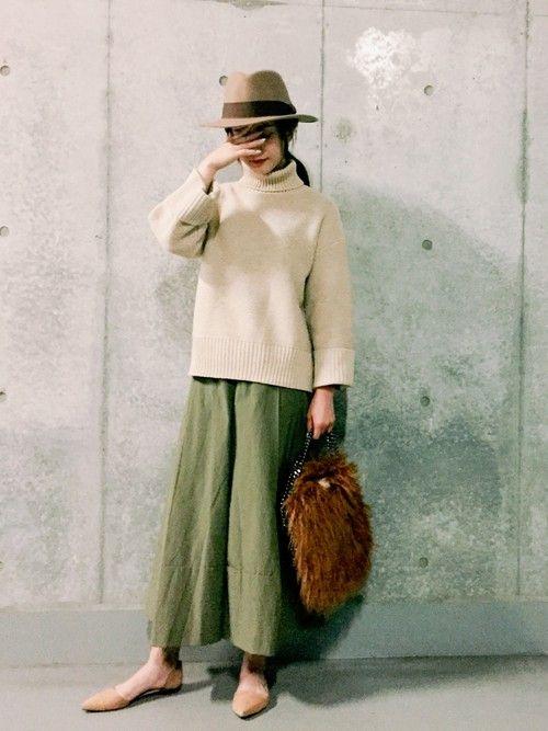 仲村美香さんのニット・セーター「MARQUE 」を使ったコーディネート