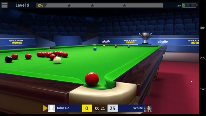 Snooker Stars is an Android Free-to-play, Sport Snooker Multiplayer Game featuring realistic Snooker simulation