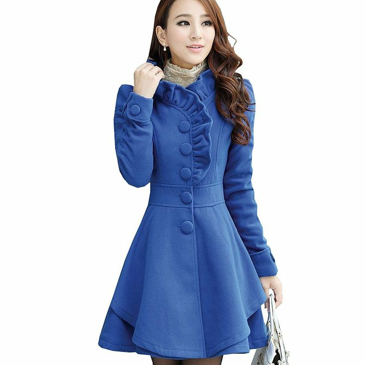 Fancy Dress Store Women's Slim Fit Woolen Cotton Blend Ruffles Collar PeaCoat           ($27.58) http://www.amazon.com/exec/obidos/ASIN/B00EVQIANS/hpb2-20/ASIN/B00EVQIANS The jacket looks nothing like the picture. - Ends up being more than you originally paid for it. - I ordered medium but it fits like XXL for me.