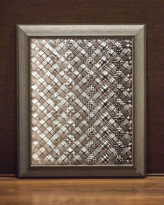 Custom Framed Origami Wall Art Black & White by TexturedColors