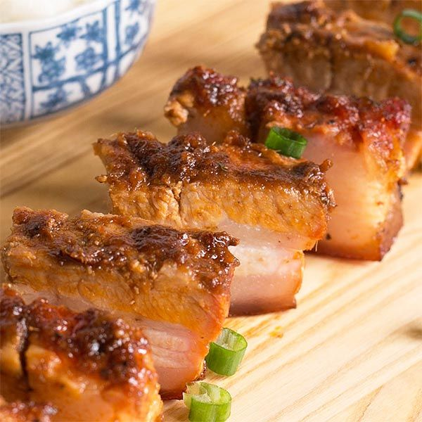 5.0 from 1 reviews Spicy Asian-style Barbecued Pork Belly  Print Prep time 10 mins Cook time 50 mins Total time 1 hour &nbsp