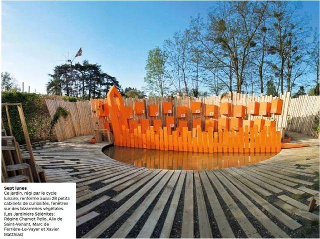 Architecture A VIVRE - juillet-août 2012 Un article sur le Festival des Jardins 2012 avec le Calendrier des sept lunes mis en avant.