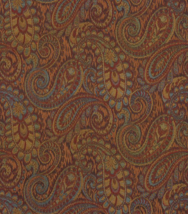 Upholstery Fabric-Robert Allen Tamil Paisley-HennaUpholstery Fabric-Robert Allen Tamil Paisley-Henna,