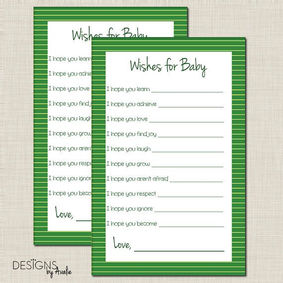 John Deere Wishes for Baby Baby Shower Game by DesignsbyAvalie