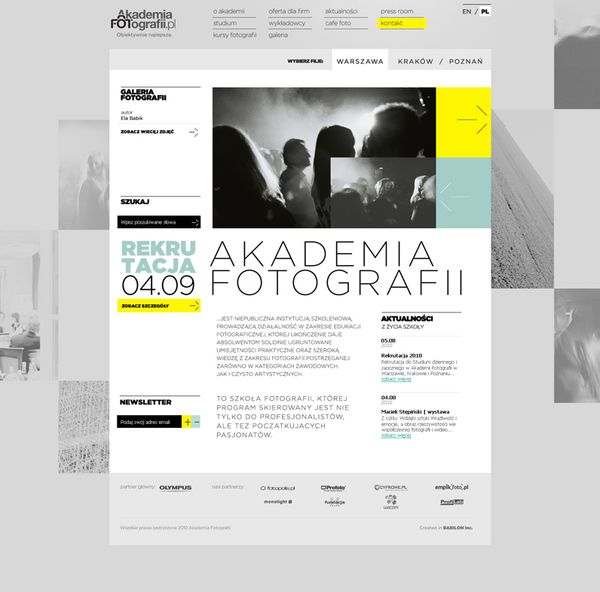 Akademia Fotografii by Pawel Rebisz, via Behance