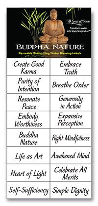 Buddha Nature.  These are clear labels you can place on your glass or on a mirror, or wherever you are going to see it all the time.  Great idea