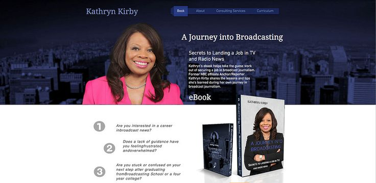 Wix Professional Web Design Journalist and Anchor carreer ebook site
