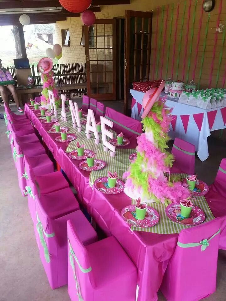 Strawberry short cake themed party