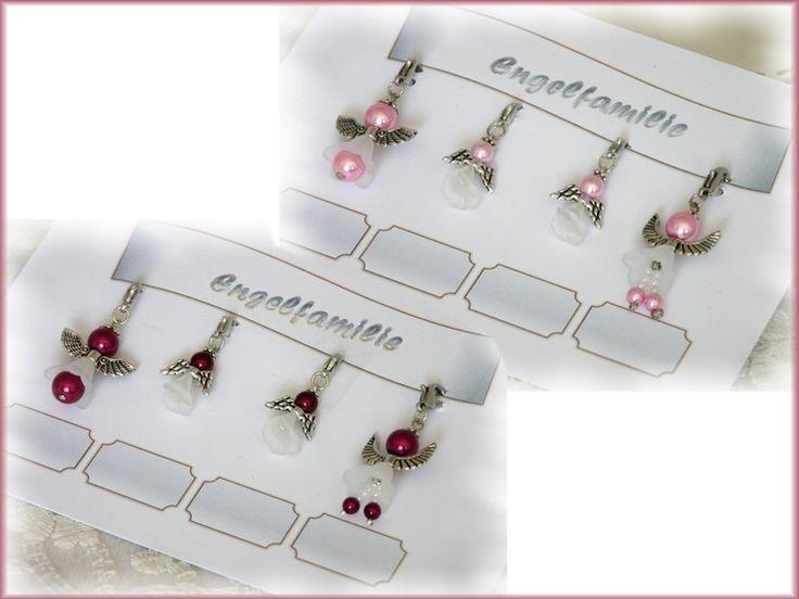 Engelfamilie, 4 Perlenengel, bordeaux oder rosa von  Alpen-Juwel auf http://de.dawanda.com/product/80140307-Engelfamilie-4-Perlenengel-bordeaux-oder-rosa