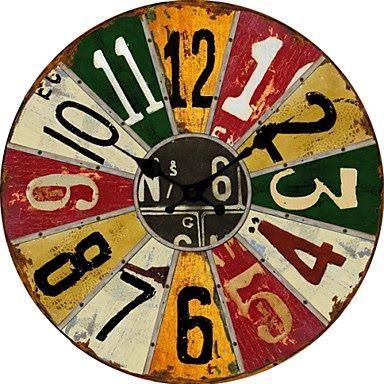 Reloj de pared Ruleta de colores | Relojes de pared