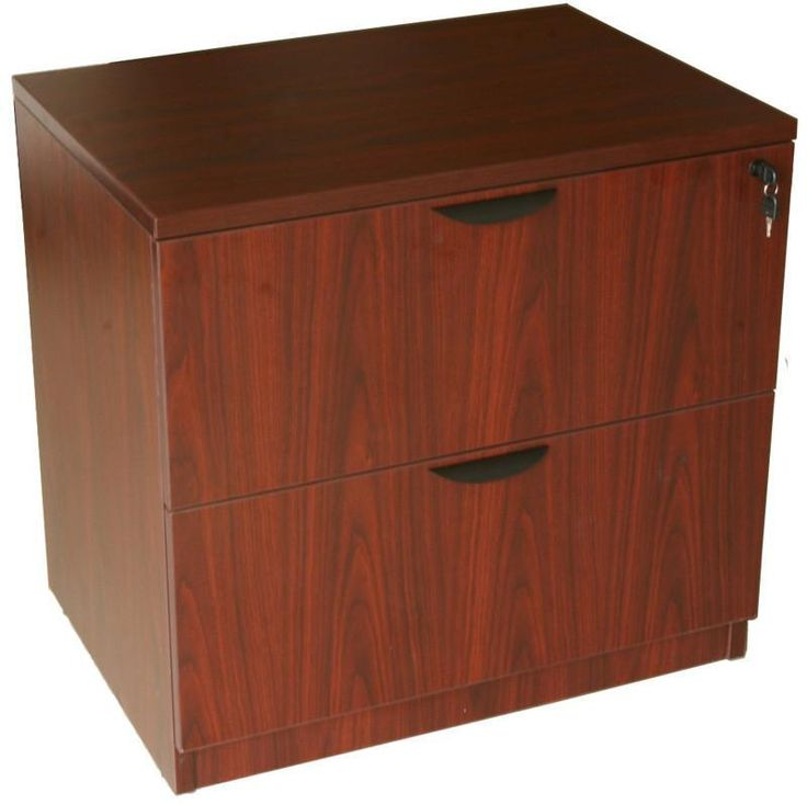 Luxury Mahogany Lateral File Cabinet 2 Drawer