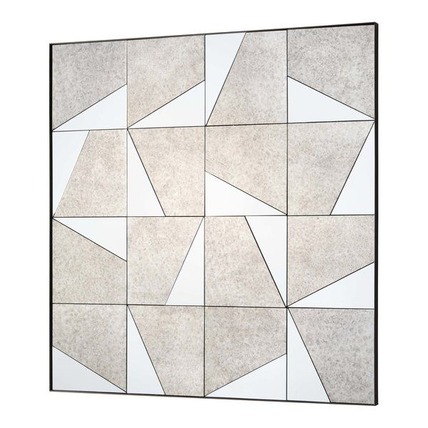 The Innovative Design Of This Frameless Wall Mirror Is The Decorative Antidote To Ordinary Walls A Puzzle Th Mirror Mosaic Square Glasses Frames Square Mirror