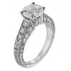 Scott Kay Vintage Engagement Ring #M1135RD10