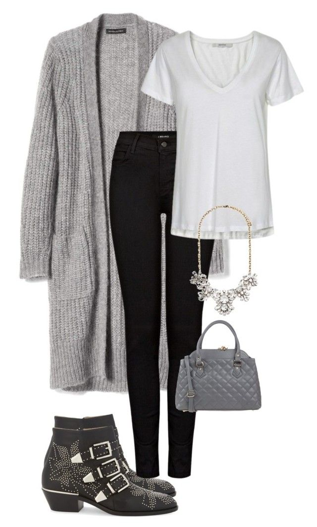 """""""Office Casual #167"""" by amooshadow on Polyvore featuring Chloé, Banana Republic, J Brand, Gestuz, Tuscany Leather and Forever 21"""