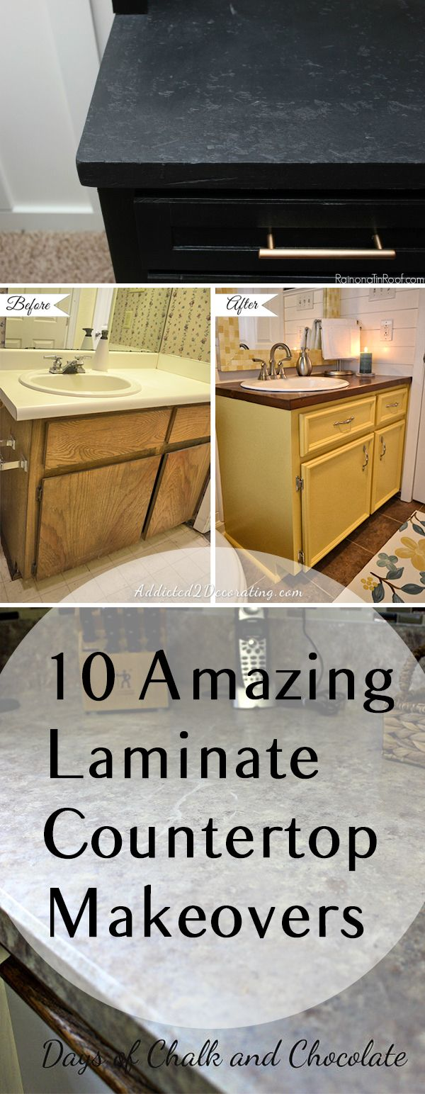 Refinish Countertop Paint Lowes : 10 Amazing Laminate Countertop Makeovers - Werkbladen, Aanrecht ...