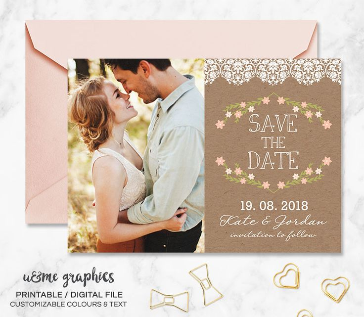 Rustic photo save the date. Printable photo save the date. Save the date designs cape town. Digital invitation designs cape town