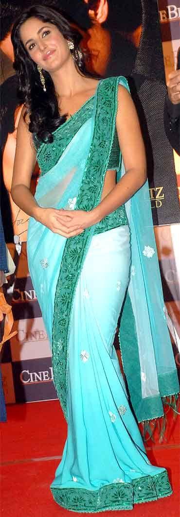 Katrina Kaif- green ombre sari