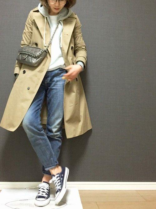 HYKEのトレンチコートを使ったmiiiichinのコーディネートです。WEARはモデル・俳優・ショップスタッフなどの着こなしをチェックできるファッションコーディネートサイトです。