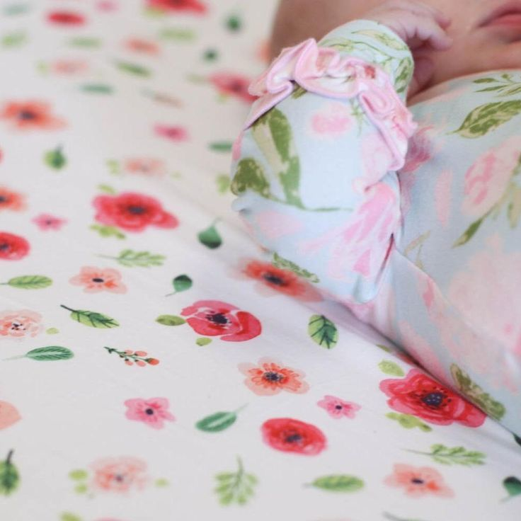 SweetHoney - Fitted Crib Sheet - Tropical Floral