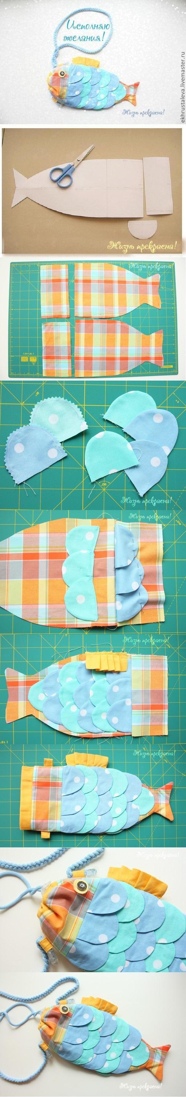 diy, diy projects, diy craft, handmade, diy ideas, diy children fish handbag - Folkvox - Imágenes que hablan de mí -