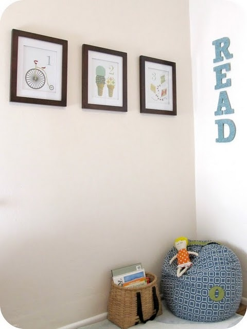"""I love the idea of taking a bunch of random crazy patterns and putting them together for super cute framed """"prints"""".... this link shows a few other cute combos..."""