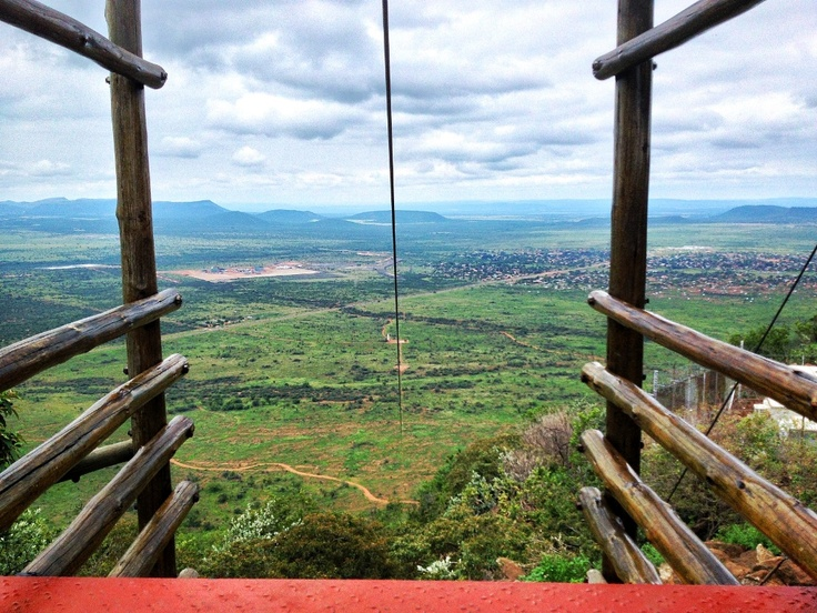 Sun City:  If you do manage to exhaust the on-site activities, there are several day excursions to sort you out!  (This is the Unreal Zip Line... 2km!!!)