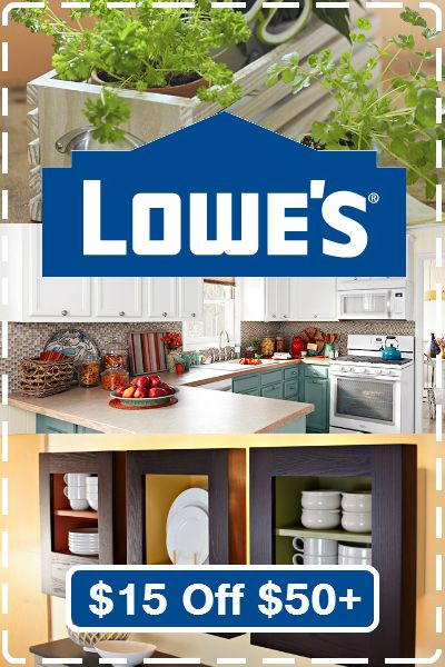 $15 off at Lowe's for a limited time! Use online coupon code: http://www.dealsplus.com/lowes-coupons?code=2355297 #Lowes #coupon #DIY