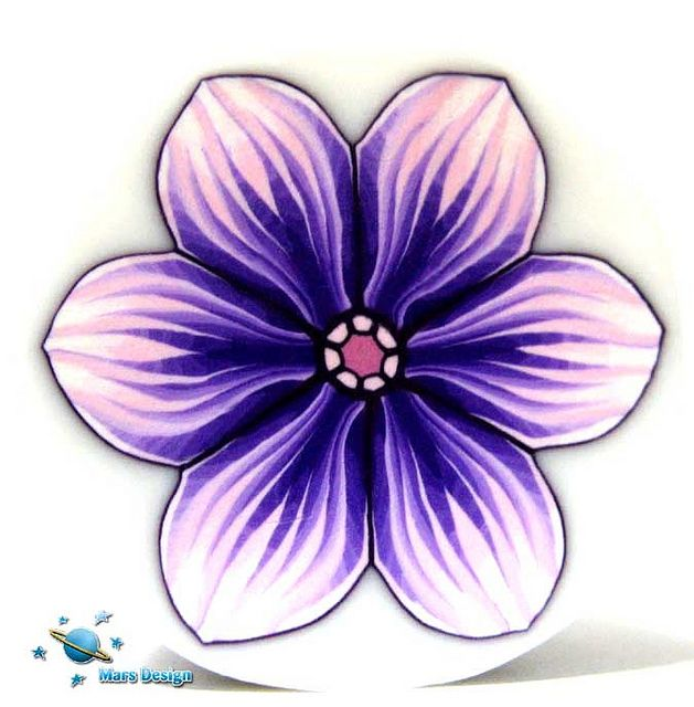 Purple pink polymer clay flower cane | Flickr - Photo Sharing!