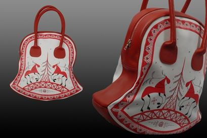 Russian folk crafts: Mezen painting