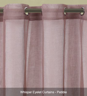 Whisper Sheer Eyelet Curtains – Ready Made Pebble #curtains
