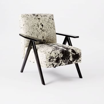 Retro Cowhide Chair - Black + White #westelm
