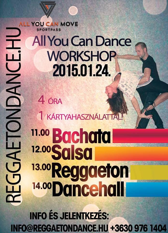 Táncra fel! Csatlakozzatok Ti is az eseményhez, és legyetek részesei a 4 órás ALL YOU CAN DANCE-nek január 24-én!  Bővebb információt az esemény oldalán olvashattok: https://www.facebook.com/events/815162635204694/?ref=22