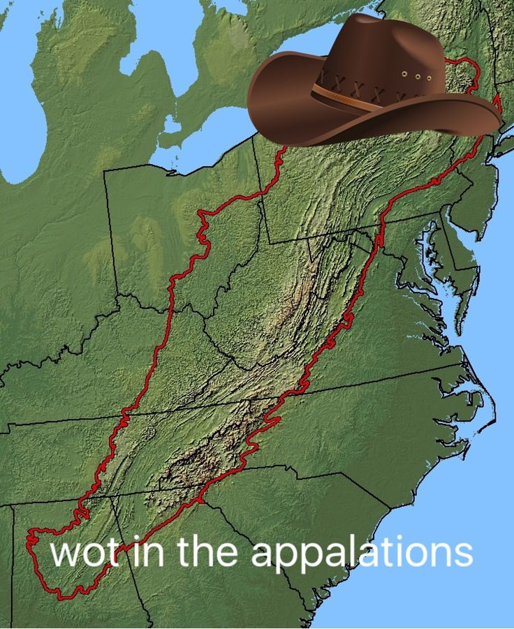 Appalachians. How did someone get this so wrong?!