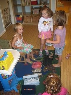 shoes shopping- dramatic play yom kippur