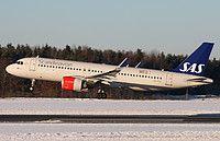 SAS Scandinavian Airlines Airbus A320-251N(WL) LN-RGL aircraft, on short finals to Sweden Stockholm Arlanda International Airport. 12/11/2016.