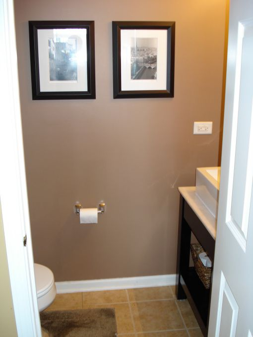 Half bath ideas modern half bath on a budget project for Small half bathroom ideas on a budget