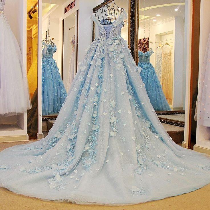 Dubai Pretty Bridal Dresses 2017 Floral Pearl Wedding Gowns Crystal Appliques Cathedral Train Arabic Vestidos De Novia Lebanon  #Affiliate