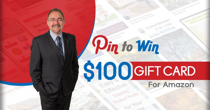 Got a Pinterest account?  Easy Pin-To-Win Contest.  Pin any one of the 6 pins and you're entered to win a $100 Amazon Gift Card.