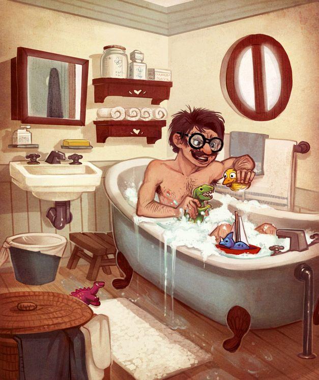 Марта, принятие ванны смешные картинки