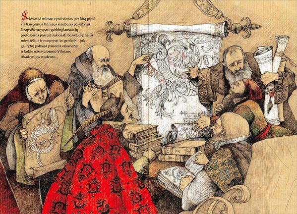 """Lina Kusaite illustration for """"The Beast Of Vilnius""""."""