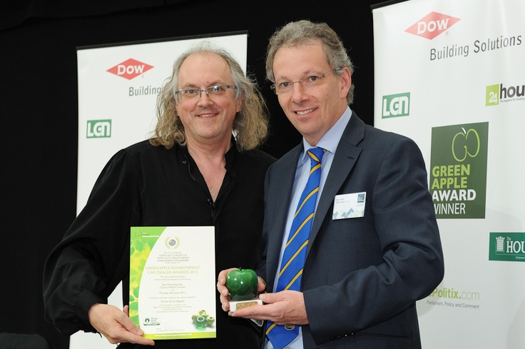 Essex Auto Group picking up the 2012 Green Apple Environment Car Dealer Award.