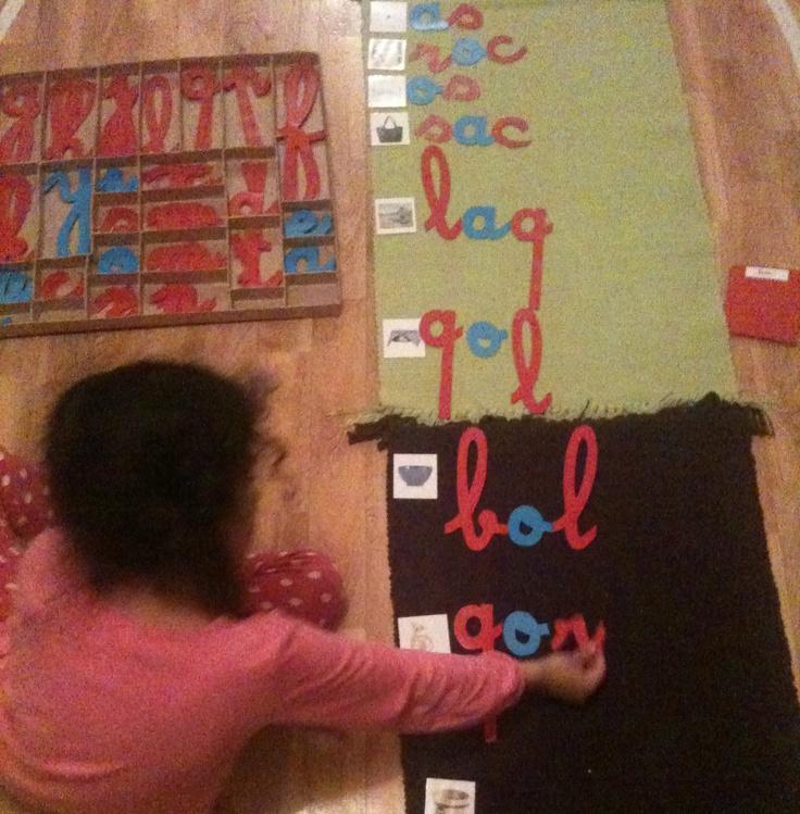 Aux Couleurs de Montessori 1ère dictée muette