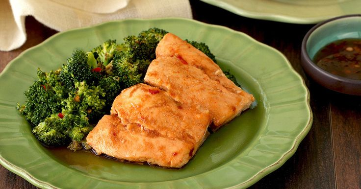Thai Oh My Salmon & Broccoli   – Weight Watchers