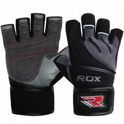 RDX Leather Gym Workout Weight Lifting  Gloves