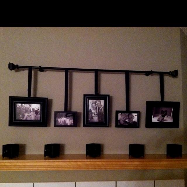 My first pinterest project!: Photo Displays, Craft Ideas, Mantel Photo