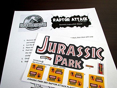 JURASSIC PARK replacement stickers / decals for 2001 RAPTOR ATTACK /item# R6SG5EB-48Q21155 @ niftywarehouse.com #NiftyWarehouse #JurassicPark #Jurassic #Dinosaurs #Film #Dinosaur #Movies
