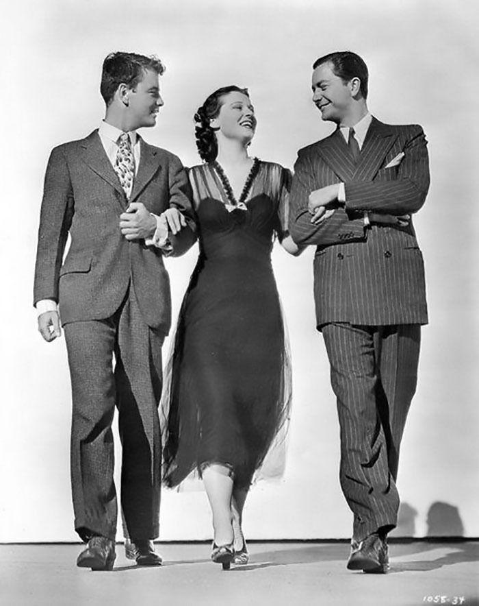 "Lew Ayres, Robert Young y Ruth Hussey para ""Rich Man, poor Girl"", 1938"