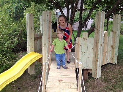diy build your kids a play castle, diy, outdoor living, woodworking projects, We…
