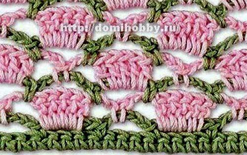 Схема вязания крючком узора.