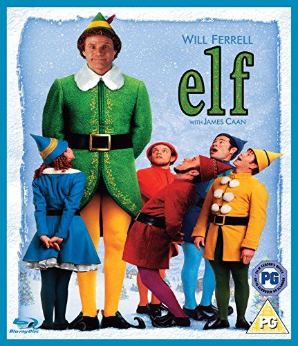 Elf.  2003 American Christmas comedy film produced by Jon Berg, Todd Komarnicki and Shauna Robertson, directed by Jon Favreau with music by John Debney and written by David Berenbaum. It stars Will Ferrell, James Caan, Bob Newhart, Ed Asner, and Zooey Deschanel.